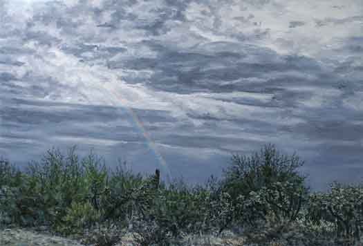 "Lambert Lane Rainbow 24""x36"" oil on linen"